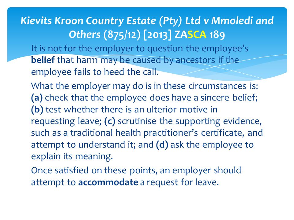 Kievits Kroon Country Estate (Pty) Ltd v Mmoledi and Others (875/12) [2013] ZASCA 189
